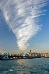 Istanbul 66 (Eminonu) (ihazer) Tags: autumn sea nature clouds turkey istanbul cirrus pera fibratus vertebratus