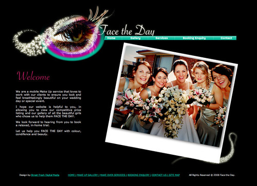 Face the Day Make Up Artists Website Design | Flickr - Photo Sharing