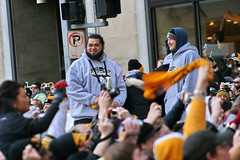 Chris Kemoeatu & Heath Miller (Deepak & Sunitha) Tags: pittsburgh nfl super bowl victory parade title superbowl sixth celebrate 2009 steelers champions grantstreet gosteelers terribletowel herewego steelernation xliii sixburgh slashd