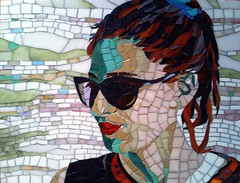 Beautiful woman (Irit Levy - Mainly art) Tags: portrait glass mosaic final finished