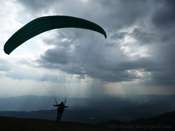 Paraglider at Billing