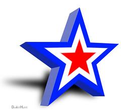 Flag Star -  Illustration (DonkeyHotey) Tags: illustration photomanipulation photoshop photo americanflag manipulation patriotic redwhiteandblue commentary politicalcommentary donkeyhotey