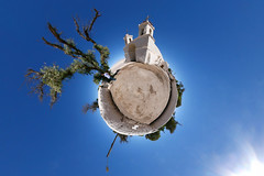 Chiu Chiu Church (Man) Tags: chile panorama church village full explore spherical 360 calama chiuchiu antofagasta planetoid interestingness163 i500 littleplanet
