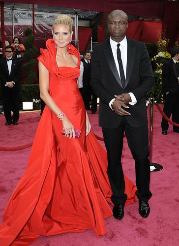 Heidi Klum y Seal Premios Oscar 2008