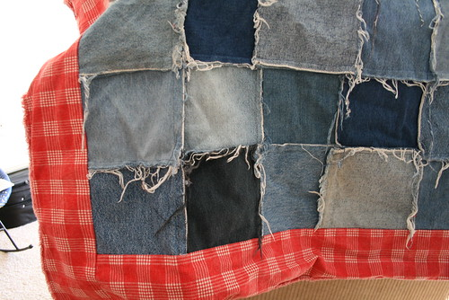 Ragged Denim Quilt