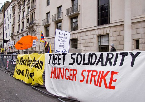 Tibet Solidarity Hunger Strike, Portland Place, London