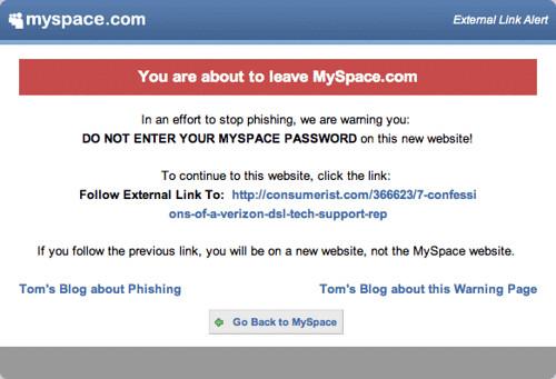 myspace-link-alert