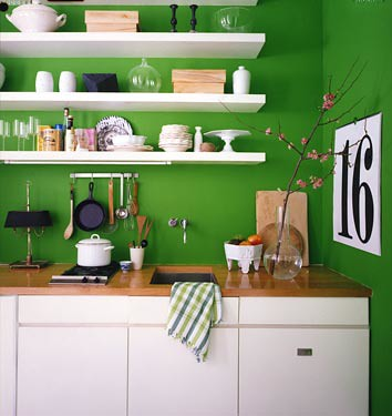 green kitchen by The Sugar Monster.