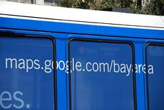 maps.google.com/bayarea - google transit (Steve Rhodes) Tags: sanfrancisco blue church advertising google googlemaps publictransit publictransportation ad may muni mayday 2008 churchst sfist jchurch may1st may1 googletransit googlemapsmuni