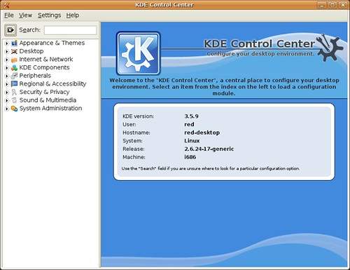 Screenshot-KDE Control Center