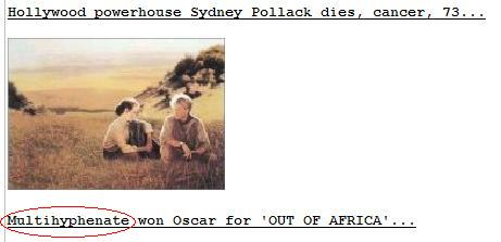 Sydney Pollack Drudge Report Multihyphenate