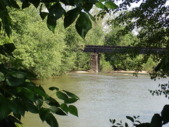 The railroad bridge (still in use)