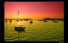 (Barry McGrath) Tags: city ireland sunset sea sky dublin seascape water port canon boats eos twilight dun 30d laoghaire artisticexpression barrymcg bazzymcg