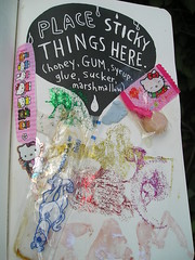 Wreck this journal day 2..Part 2 of the sticky page!! (kittypinkstars) Tags: art this sticky journal smith page keri wreck