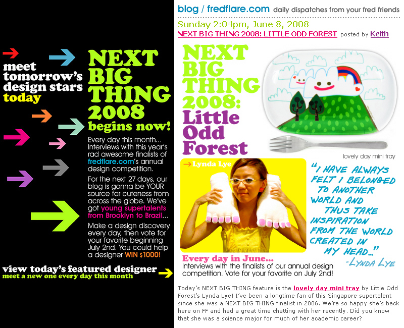 littleoddforest : fredflare's next big thing 2008!