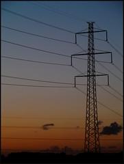 Powerful sunset (Kirsten M Lentoft) Tags: sunset sky powerlines hovesenderen momse2600 mmmmmmmuahhhhhhhh thankssweetfriend kirstenmlentoft