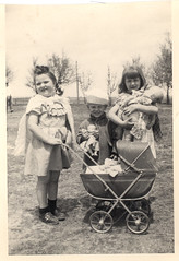 vintage: children with dolls by freeparking on Flickr!