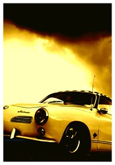 Hotrod Karmann Ghia (essichgurgn) Tags: auto 2 hot art car yellow vw jaune volkswagen t four 1 automobile flat 5 thing low 4 beetle voiture gelb coche bil carro hotrod eightball rod t5 t3 checkers escarabajo lowrider macchina sp2 coup t1 ghia digest t2 t4 kfer oto automvil karmann barndoor aircooled breit veedub schnell    tief flat4 hijackers otomobil  automobiel   bl avtomobil   mba