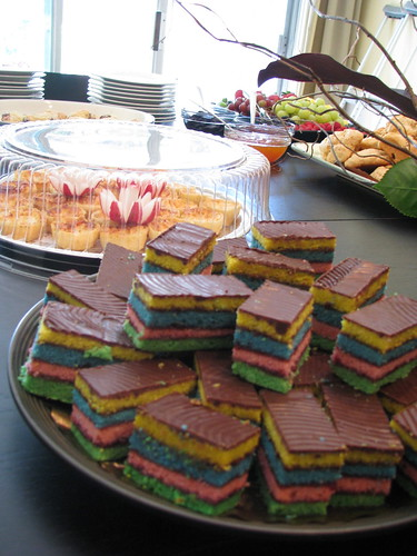 multi-colored tasty cake like thing