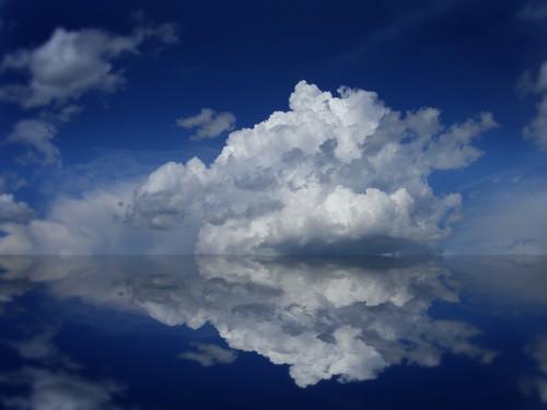 [フリー画像] 自然・風景, 雲, 空, ブルー, 200807082100