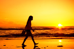 Beach Walk (siebe ) Tags: sunset sea holland beach girl dutch silhouette strand walk nederland thenetherlands zee noordwijk langevelderslag aplusphoto hollandstock strandstock