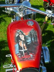 Harley Davidson tank (pantherinia_hd Anna A.) Tags: travel red wild bike denmark design tank ride harleydavidson motorcycle biker hd rider fredericia superrally