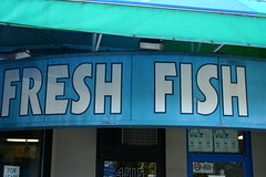 Fresh fish (BuckyHermit) Tags: canada sign vancouver store bc britishcolumbia guessed freshfish metrovancouver guesswherevancouver 10thavenue westpointgrey pointjerm9ine 10thavenuevancouver