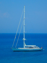 On blue.... let's sail... (pantherinia_hd Anna A.) Tags: trip travel blue sea summer vacation sky seascape island boat europe mediterranean mare hellas greece sail destination rodos rhodes rodi blueribbonwinner 5photosaday abigfave diamondclassphotographer flickrdiamond ysplix goldstaraward damniwishidtakenthat flickrlovers tripleniceshot