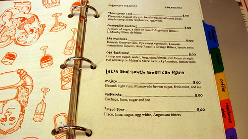 Drink Menu at Zingerman's Roadhouse