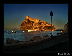 Castello Aragonese al Tramonto 3 (Davide Cherubini) Tags: sunset italy castle atardecer italia tramonto chapeau chateau schloss ischia castillo gbr themoulinrouge cherubini castelloaragonese 50faves 35faves 25faves mywinners abigfave infinestyle bellitalia dcherubini multimegashot davidecherubini davincitouch obq oraclex