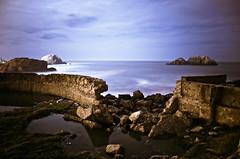 (navidbaraty) Tags: ocean sf sanfrancisco california longexposure nightphotography 15fav abandoned rock ruins pacificocean sutrobaths