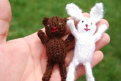 Bear and Bunny Closeup