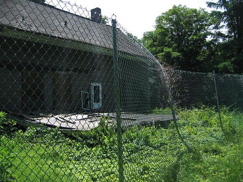 Bent fence poles