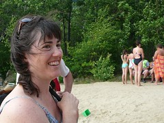 Kerrie on the Beach at Dublin Pond (alist) Tags: alist dublinnh robison cassiecleverly alicerobison july2008 ajrobison