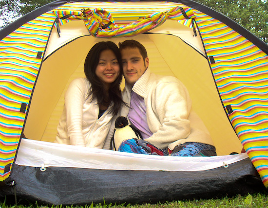 twinkle and joseph in their tent