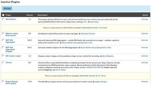 Image of Plugin version update reminder