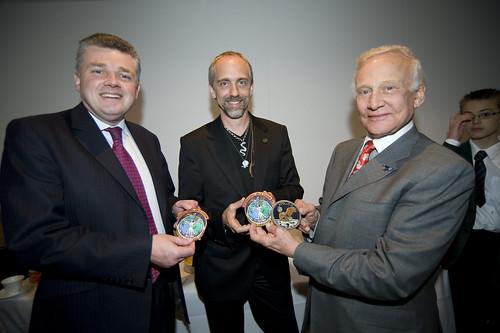 Ian Pearson, Richard Garriot and Buzz Aldrin