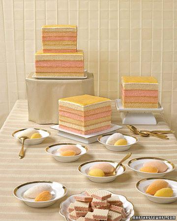 Martha Stewart tiered Hawaiian paradise cake
