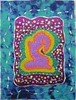 Desire (Karen Cattoire) Tags: original art colorful handmade originalart silk creation fabric fiberart patchwork beading textileart tissu abstrait textiledart karencattoire fibretextile arttexilte