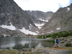 Dennis at Solitude Lake  (11,400')