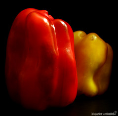 red & yellow hot chili peppers (HiSpAnIcO[reloaded]) Tags: shadow red hot vegetables yellow pen canon pepper eos ombra best giallo rosso nero bestofthebest composizione verdura caldi 450d abigfave platinumphoto colorphotoaward aplusphoto goldstaraward fdream peperoroni
