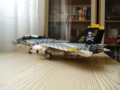 F-14A Tomcat (3) (Mad physicist) Tags: model fighter lego f14 aircraft usnavy jollyroger tomcat grumman f14a