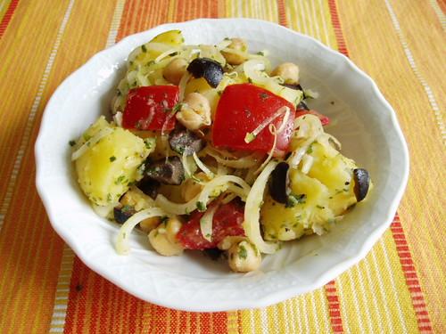 Griechischer Kartoffelsalat mit Zitronendressing