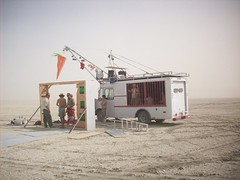 Burning Man 2008 104 (xamichee) Tags: burningman blackrockcity stepvan animalcontrol burningman2008 blackrockcitycommunitycenter