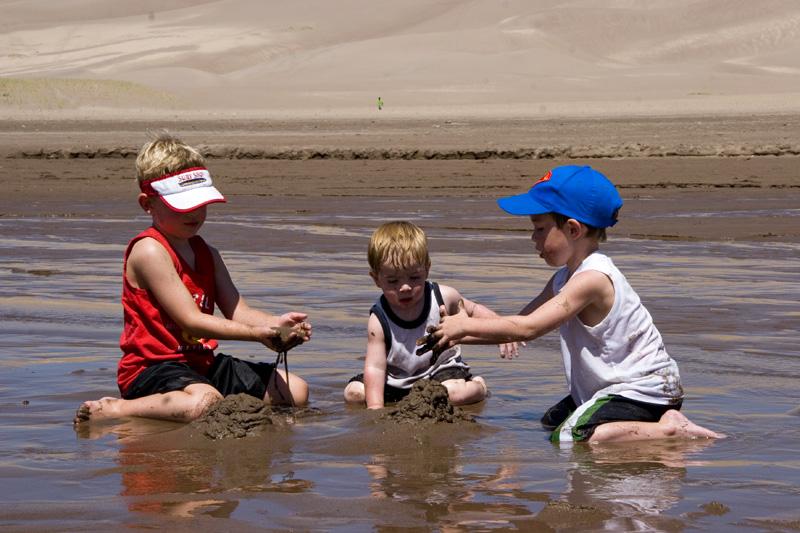 3 boys in Sand