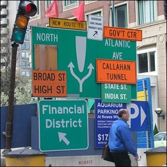 Confusing Traffic Sign, Boston MA