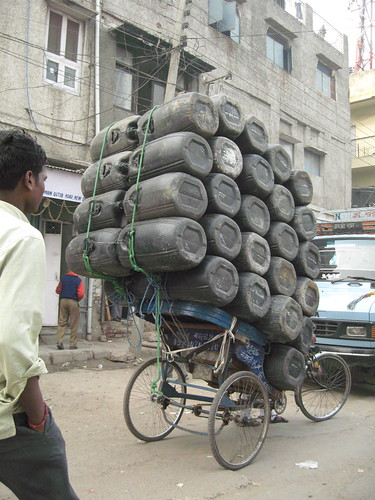 fully loaded bicycle