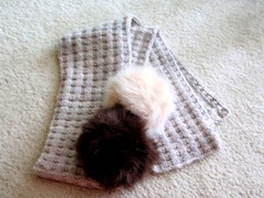 Waffles Scarf with Tribbles 2