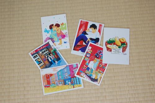 木内麗子さんのイラストのポストカード