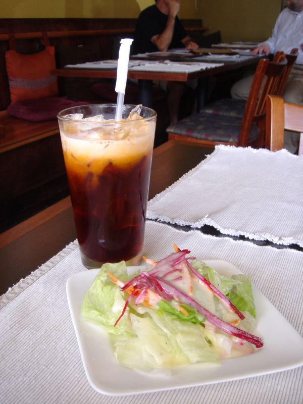 Salad & Thai Iced Tea